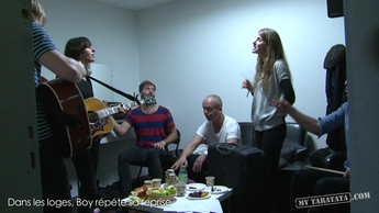 "Backstage BOY (Live TV Rehearsal ""Little Numbers"" + cover ""Pumped Up Kicks"" 2012"