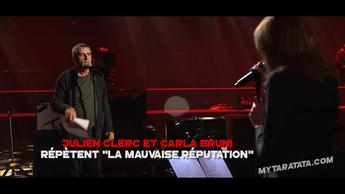 Les coulisses des répètes avec Carla Bruni et Julien Clerc (2017)