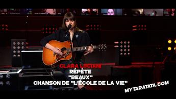 """Les coulisses des répètes de """"Beaux"""" de Clara Luciani (Chanson de la série """"L'École de la Vie"""") (21)"""